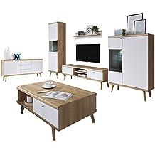 mirjan24 wohnzimmer primo i elegantes wohnzimmer set im skandinavischen stil kommode couchtische