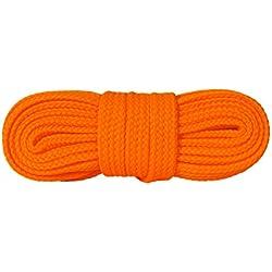 Cordones de Calidad Para Calzado Informal,1 Par, (120 cm - Naranja Fluorescente)