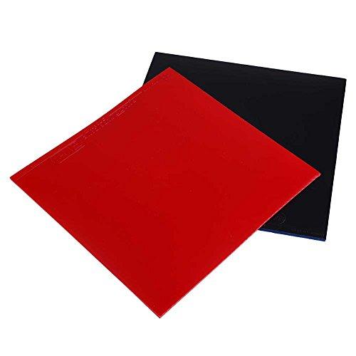 Forfar 2 Stück Ping Pong Gummi Tischtennis Gummi Tischtennisschläger Ersatzgummis Blattgummi für Tischtennis