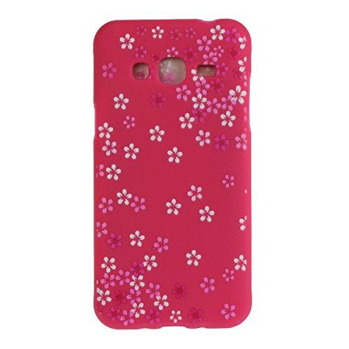Voguecase® für Apple iPhone SE 5 5S 5G hülle, Schutzhülle / Case / Cover / Hülle / TPU Gel Skin (Gelb/Lila Traumfänger) + Gratis Universal Eingabestift Rosa/Rot Blume 11