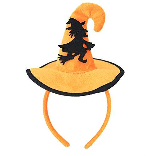 Elegantes Halloween-Stirnband für Kinder, süßes Kürbis-Hut, geformtes Haarband, Party-Zubehör Black Witch
