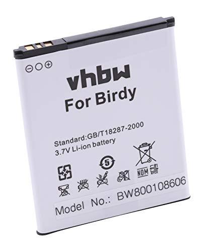 vhbw Li-Ion Akku 2100mAh (3.8V) für Handy Smartphone Telefon Wiko 9261, Birdy, Birdy 4G, Freddy