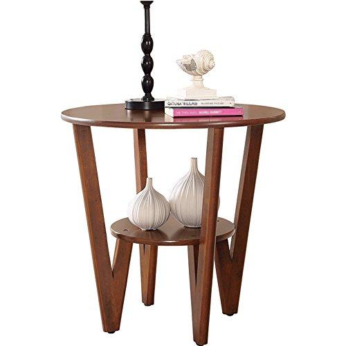 LXYFMS Canapé Américain Table D'appoint Simple Coin Quelques Mini Pieds en Bois Massif Créative Petite Table Basse Ronde Table De Téléphone De Table Table Pliante (Couleur : Brown)