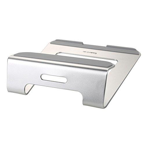 Koolertron Aluminio Soporte Base de enfriamiento para portátil para Apple MacBook Air y MacBook Pro y todos los otros ordenadores portátiles (Plata)