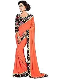 8b9da96c5 Floral Trendz Fancy Chifon Saree With Blouse Piece(Designer Sarees For  Party Wear Free Size)