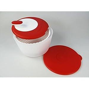 TUPPERWARE Salatschleuder Salat-Karussell 3,8L Rot-Weiß D226 Salatkarussell