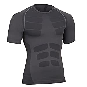 Fitsund Herren Kompressionsshirt Atmungsaktiv Fitness Shirt Schnell Trocknend Funktionsshirts Gr. M-XL