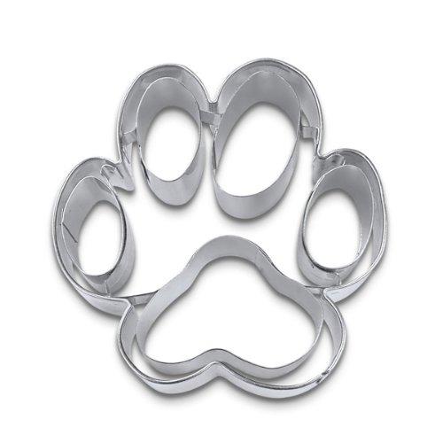 Städter 066120 Ausstechform Hundepfote Edelstahl, 7 cm