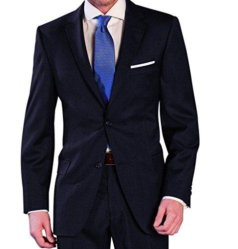 Lanificio Tessuti Italia - Regular Fit - Herren Anzug aus reiner Schurwolle in verschiedenen Farben (1941413) (Gr. 44-64, 24-32, 90-122), Farbe:Blau(10), Größe:94 (Tessuto)