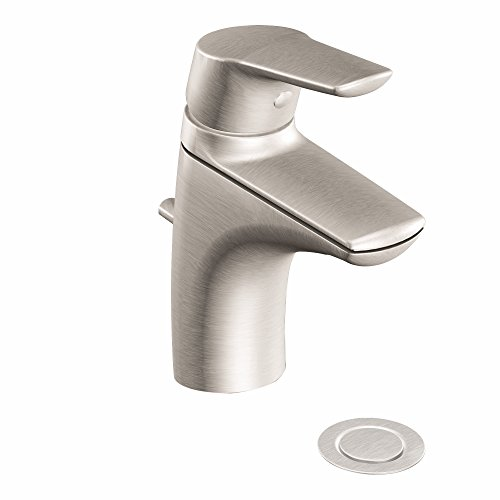 Moen 6810bn Methode one-handle Low Arc Badezimmer Wasserhahn, nickel gebürstet (Moen Low-arc Bad Wasserhahn)