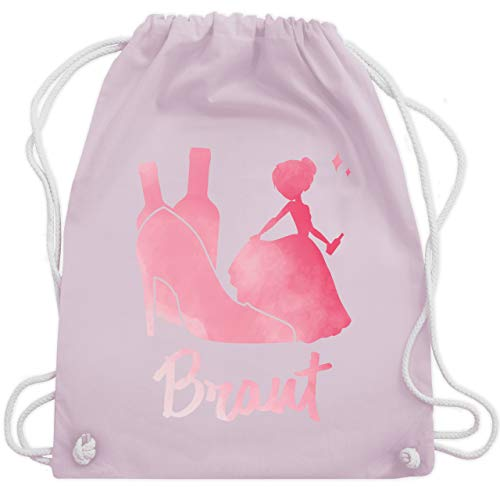 bschied - JGA Prinzessin - Braut rosa - Unisize - Pastell Rosa - WM110 - Turnbeutel & Gym Bag ()