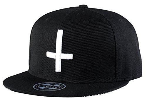 Aivtalk Hip-Hop Baseball Cap Kappe Mütze Unisex Snapback Verstellbare Baseballcap Original Kreuz Gedruckte Basecap - Schwarz (Gedruckt Snap-gürtel)