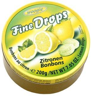 """Woogie Zitronen-Bonbons \""""Fine Drops\"""" in der wiederverschließbaren 200g Dose"""
