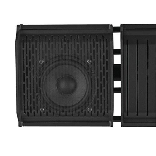 Heizstrahler mit Bluetooth Lautsprechern und farbigen Backlight (Schwarz) - 4
