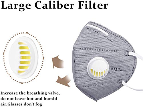 Anti polución máscara N95 Máscara niños,  3M FFP2 reutilizable Filtro 95% de las bacterias contra la contaminación Protección PM2.5 polvo máscara unisex al aire libre N95 enmascarar lavable, 6pcs