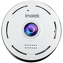 IP Cámara, IMATEK V301 Blanco H.264 HD 720p Cámara de red IP inalámbrica WiFi infrarrojos Día y Noche Plug & Play ocultos invisibles discreto fisheye panorámica de la cámara VR la cámara de vigilancia de seguridad.