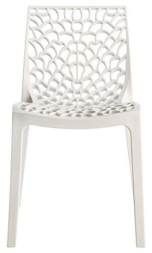 Up on nr.4 sedia mod. gruvyer higlopp bianco lucido