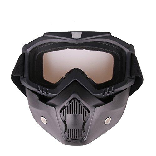 Docooler Motocross-Brille Schutzgläser Outdoor Langlauf Maske Taktische Brille Winddicht Sanddicht Atmungsaktiv Reiten Sports Spiegelgläser