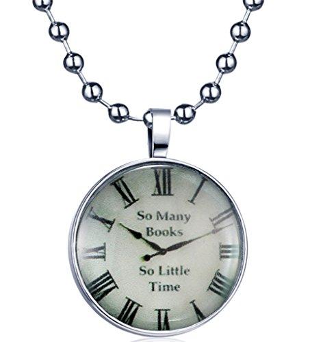 Yumilok-Uhr-Pattern-Nachtleuchtend-Anhnger-Halskette-Legierung-Medaillon-Amulett-Kettennhanger-fr-Damen-Herren-Blaues-Licht