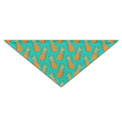 Sdltkhy Tropical Pineapples Fruits Pattern Triangle Pet Scarf Dog Bandana Pet Collars Dog Cat - Birthday