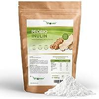 Vit4ever® Probio Inulin Pulver - 1100 g - Hoher Ballaststoffgehalt - Präbiotikum - Laborgeprüft - Natürlich aus der Chicoree Wurzel - Ideal für Getränke, zum Kochen und Backen - 100% Vegan - Natürlich