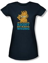Garfield - - Nunca perjudique la camiseta de las mujeres En la marina de guerra