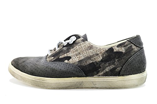 Beverly Hills Polo Club Sneakers/Basket Mode Homme Gris Toile Daim AG168 (43 EU)