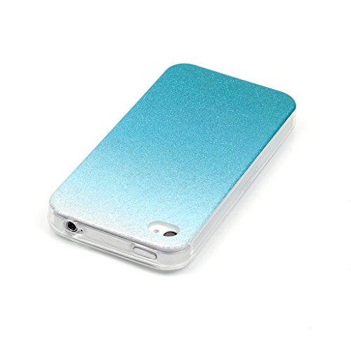 Uming® Retro bunte Muster Druck weiche TPU Fall Abdeckung Hülle Case Cover ( Gradient (Gold) - für IPhone 5C IPhone5C ) Silicone Silikon Shell Schutz Handy-Fall Cellphone Case Gradient (Light Blue)