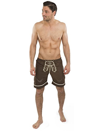 Trachten Badehose - Hopfen & Malz - Lederhose - Trachtenbadehose - Trachten Shorts - Badeshort(XL) - 3