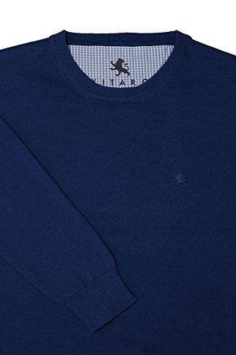 Kitaro Pullover Herren Basic Langarm Blau