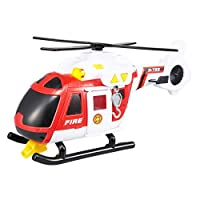 Teamsterz Large Light & Sound Fire Helicopter | Kids Emergency Fire Toy Vehicle Great For Children Aged 3+