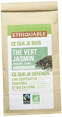 Ethiquable Thé Vert Jasmin Chine Vrac Bio et Équitable Max Havelaar, 100 g