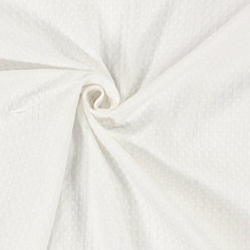 Fabulous Fabrics Tela Wafle Piqué - Blanco - Mercancia al Metro a Partir de 0,5m - Oeko-Tex Standard...