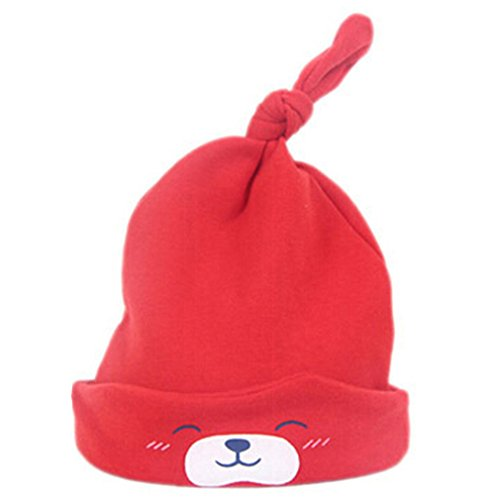 HENGSONG Nette Kind Baby Neugeborene Schlaf Hut Strick Beanie Mütze Kappe - Baby Rote Mütze