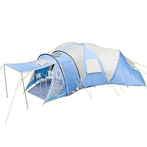 skandika Torsken 8 - Tente familiale dôme - 8 personnes - 685 x780 cm - Bleu