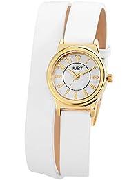 Just Watches Damen-Armbanduhr XS Analog Quarz Leder 48-S4062-GD-WH