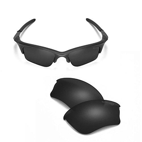 Walleva Ersatzgläser oder Gläser/Gummi-Set für Oakley Half Jacket XLJ Sonnenbrillen - 53 Optionen - Schwarz - Einheitsgröße