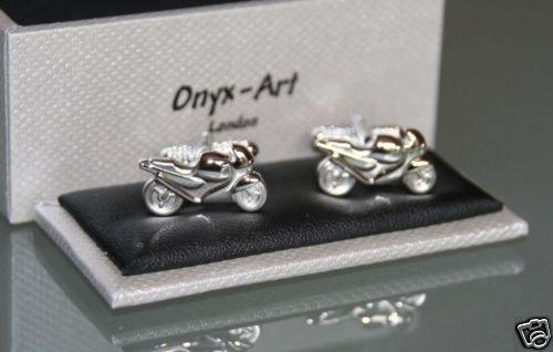 Onyx-Art Moto Ck176 De Boutons De Manchettes