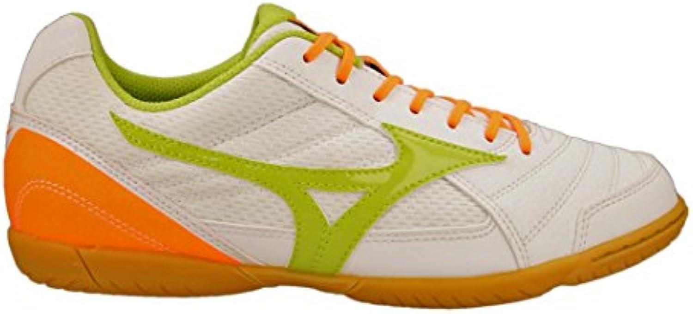 Mizuno Zapatilla Sala Club 2 IN White-Orange-Lime