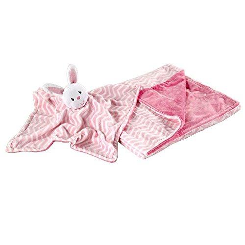 Hudson Baby 50446P Sicherheitsdecke in rosa, 76x102 cm, 100% Polyester