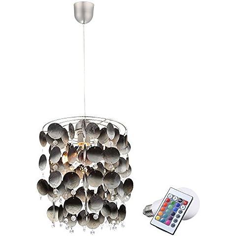 7 Watt RGB LED ho ¤ nge lampada shell Ciondolo lampada colore cambiare illuminazione a soffitto - Accenti Fumo