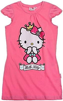 Ropa de descanso para niñas Hello Kitty infantil con forma de camisón rosa camisón de algodón