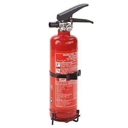 Feuerlöscher 1kg Autofeuerlöscher Pulverlöscher Pannenhilfe mit Halterung kleiner Löscher rot HP