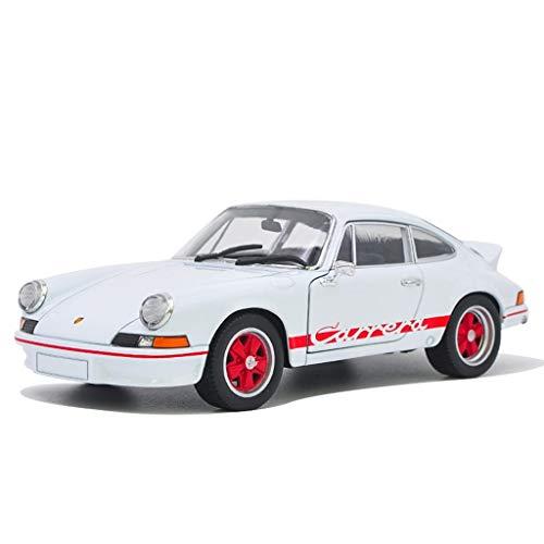 JBlaite Proportion 1:24 Porsche 911 Carrera RS 2.7 Druckguss Automodell Legierung Modellauto Spielzeug Sammlung Display Geschenk Dekoration Modellauto (Color : White, Size : 19cm*8cm*5cm)