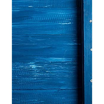 Carnet de Notes: Grand journal personnel de 121 pages lignées avec couverture « Bois Peinture Bleue »
