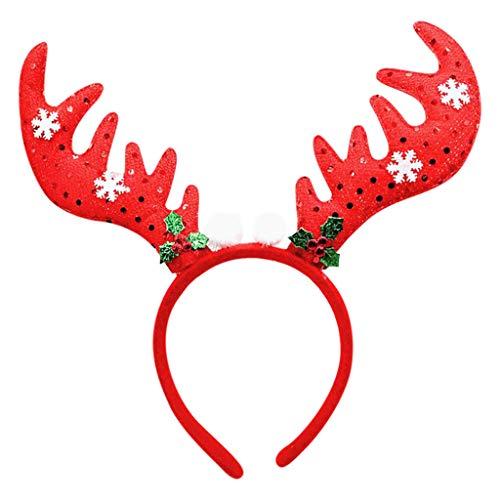 Stück Kopf Krankenschwester 3 Kostüm - Weihnachtsmütze Weihnachtsstirnband Haar Weihnachten Hut Bandverschiedenen Weihnachts Haarreife Firmenfeier Kostümparty Kinder Erwachsene Cosplay Party Schneemann Haarband Haarreif Zubehör (A)