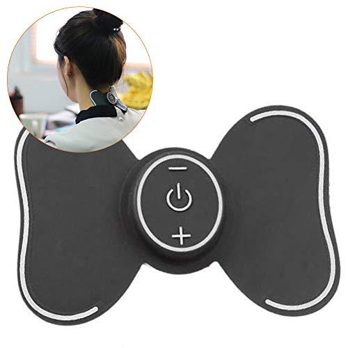 ANKIKI Massage-Aufkleber Wireless Tens Machine EMS Wiederaufladbar Schulter-Cervical-Massagegerät Muskelentspannung Impulsphysiotherapie - 5 Modi 10 Ebenen -