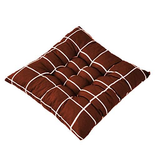 PXFX 40x40cm Soft Square Stripe Sitzkissen Rückenkissen Krawatte auf Stuhlkissen Car Pad Kissen für Home Office