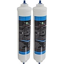 2 x Filtro acqua universale per frigoriferi americani Samsung /