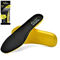 SAFETOE Comfort Memory Foam Insoles for Men & Women - J012 Orthotic Flat Feet Shoe Insoles for Plantar Fasciitis with Arch Support, Winter Odour Work Boots Gel Insoles for High Heels with Big Size